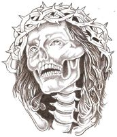 Skull Jesus by TheLob