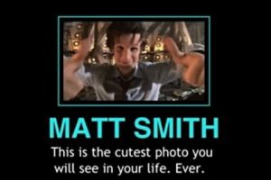 Fangirling over Matt Smith by trekkiekidmaddie