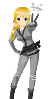 LinMarie's Request: Lindsay, the Silver Ninja by ZaneNya