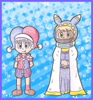 Gijinka Marx and Magolor by Candy-Swirl
