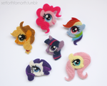 Needle Felted Pony Brooches by ChloeNArt