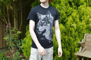 Male Model - Black Rhino Co. T-Shirt Design - Wolf by JackSephton