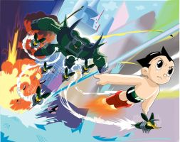 Astro Boy Battle by UberDre