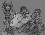 3 Gnomes and a Giff by Syreene