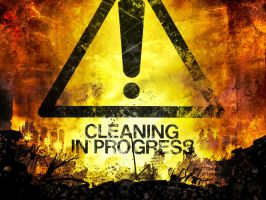 Cleaning In Progress by Hellwolve