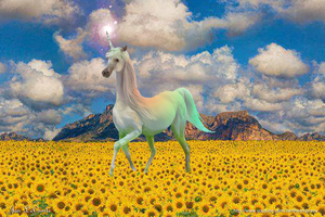 Jan LeComte sunflower unicorn by jantheempress