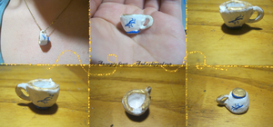 ~OUaT~ Chipped Cup Pendant by LeafyWildFlower