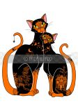 Halloween Willow Cats by redrevvy