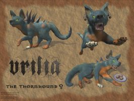 Thornhound Vrilia by xaotherion