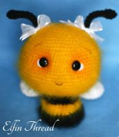 Elfin Thread - Fuzzy Bee (regular size) by ElfinThread