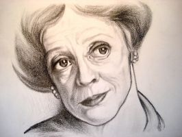 Maggie Smith portrait by arthethis