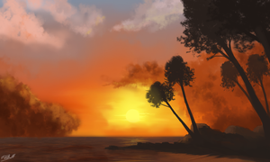 Sunset Study by FrankAtt