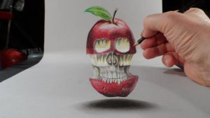 3D Drawing, First Apple by VamosArt