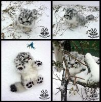 Hand made: Baby snow leopard by MalinaToys