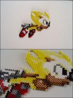 Super Sonic flying bead sprite by 8bitcraft