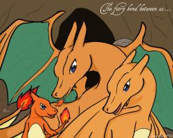 Charizard- family by sasuxsaku842