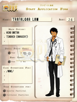 +OPHS+ Trafalgar Law Chara Profile by TenshiNoFuu