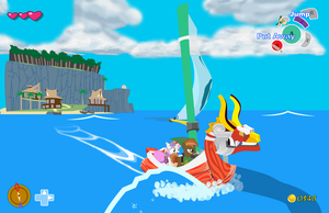Button Mash in LoZ: The Wind Waker by ponypower5000