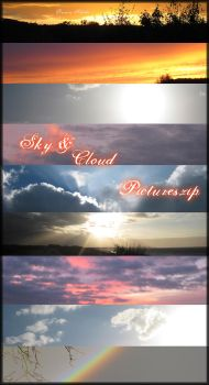 Sky and Clouds by Queen-Sheba