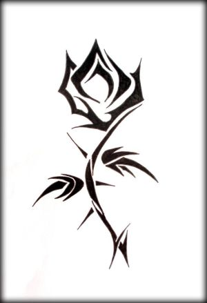 tribal rose tattoos. tribal rose tattoo designs.