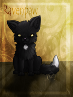 Ravenpaw, WarriorCats Fanart by oOJurOo