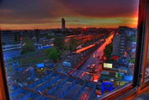 urban sunset by tobitt