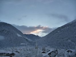 snow in austria by AMYisC0P1C
