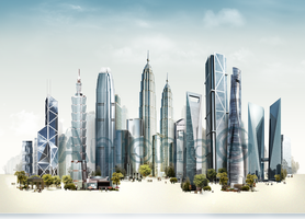 "Fictional ""China city"" by AntoniaVG"