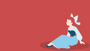 Minimalist Wallpaper | Ariel | Disney by Blugo34
