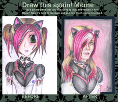 Before After Meme: Pink n Black by mia-chan-p
