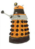 Orange dalek by saltshakercat