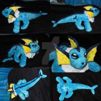 Custom Vaporeon Plush by NCIS2013