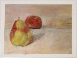 Pear and Apple by Kunsthaus