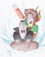 Dracula and Jonathan sledding by cheetahqueen-91
