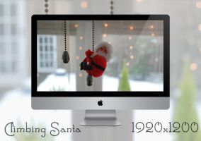 Climbing Santa 1920x1200 Wallpaper by lew0808