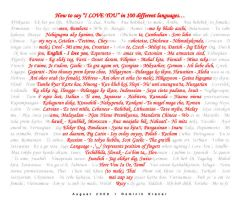 I LOVE YOU in 100 languages by dkraner