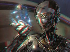 Cyborg 3-D conversion by MVRamsey