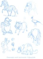 Character Designs - Lot 2 by Quaylak
