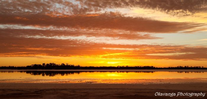 Lake Sturt Sunset by Okavanga