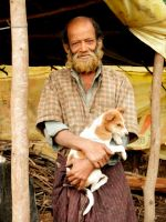 Man and Puppy, South India by DeviantPhotoPanda