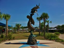 Statue At The Florida Oceanographic Coastal Center by Matthew-Beziat