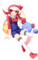 Pokemon Kotone render by Koi-wo-eien