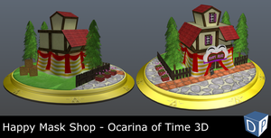Happy Mask Shop - Ocarina of Time 3D by Dosiguales
