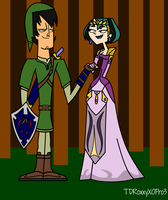 Trent and Gwen as Link and Zelda by Galactic-Red-Beauty