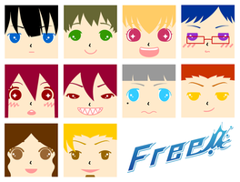 Free! square icons by timii95
