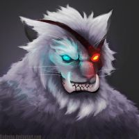 Rengar Closeup by badneko