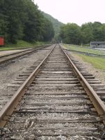 Railroad tracks by Irie-Stock