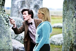 Eleven and rose by WhovianForLife