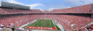 Ohio Stadium Panorama II by AreteEirene