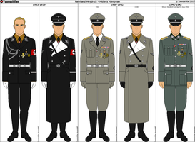 Some of Reinhard Heydrich's Uniforms by Tounushifan